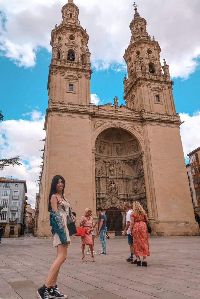 西班牙北部  洛格羅尼奧主教座堂 西班牙北部景點 美酒之鄉洛格羅尼奧Logroño 跟男友去西班牙!