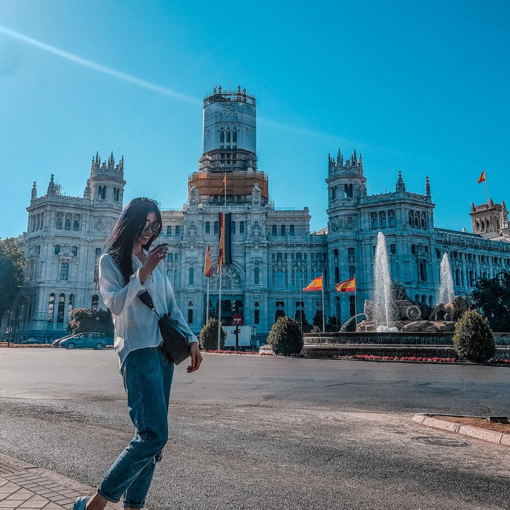 西貝萊斯宮 Palacio de Cibeles  西班牙旅遊 馬德里 景點 zoeylinslife