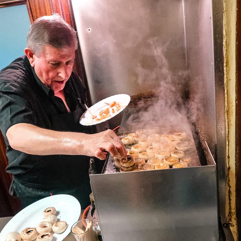 西班牙美食 蘑菇蝦 洛格羅尼奧 zoeylinslife