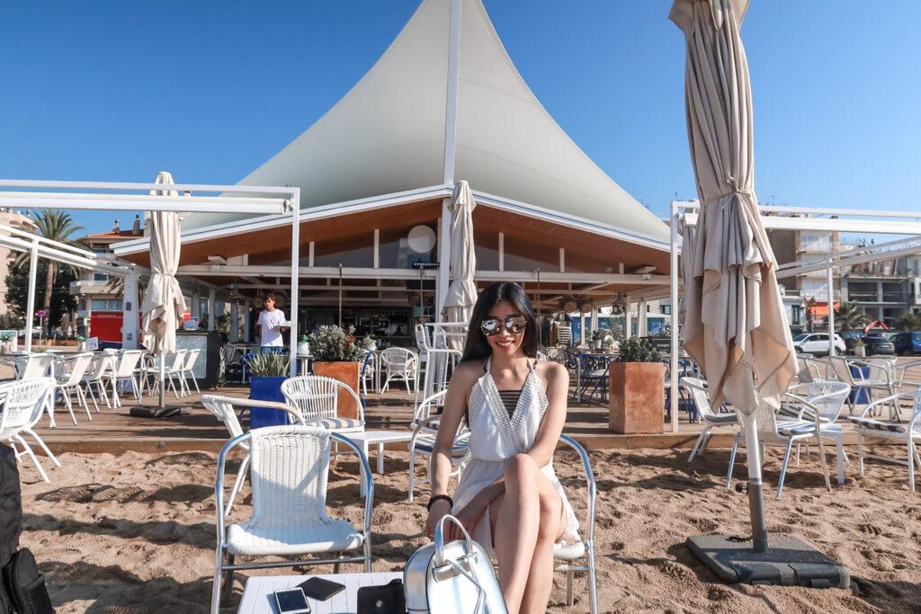 海邊咖啡廳酒吧 blue bar 巴塞隆納海邊