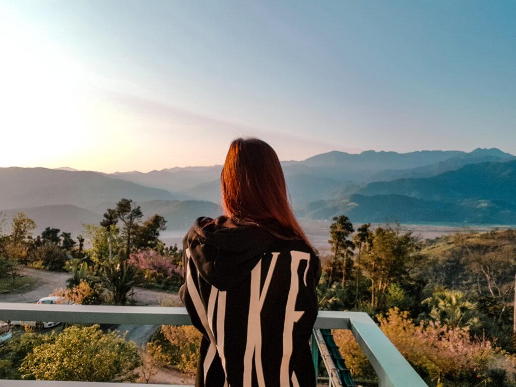 早晨的風景 太平山櫻悅