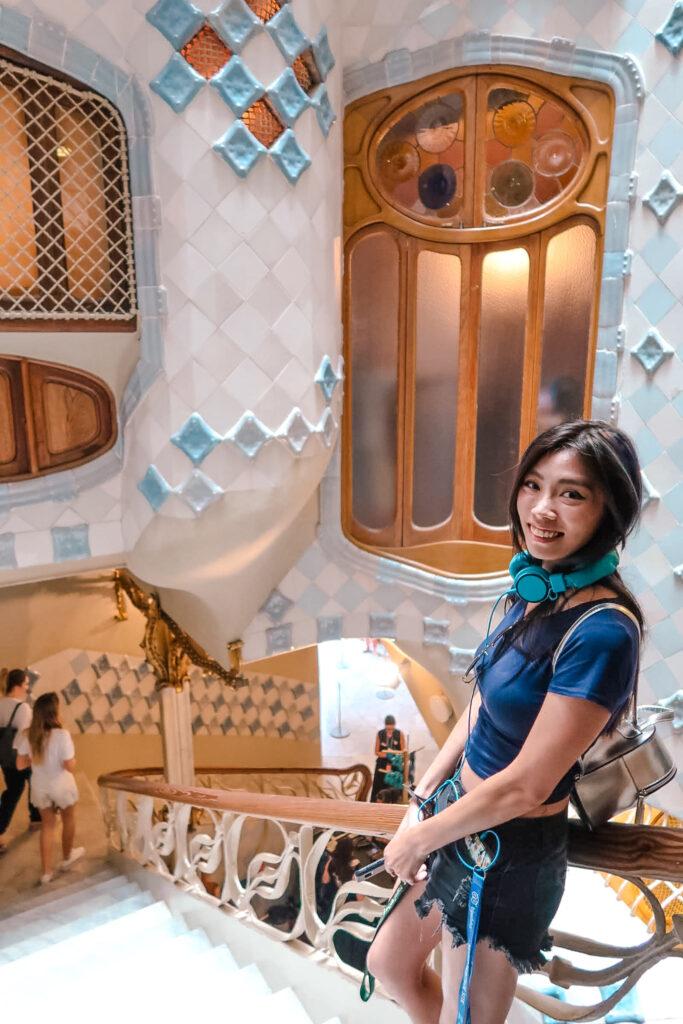 貫穿整棟建築的天井 巴特婁之家Casa Batlló
