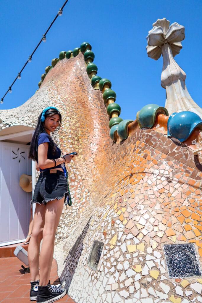 巴特婁之家 Casa Batlló 巨龍屋頂