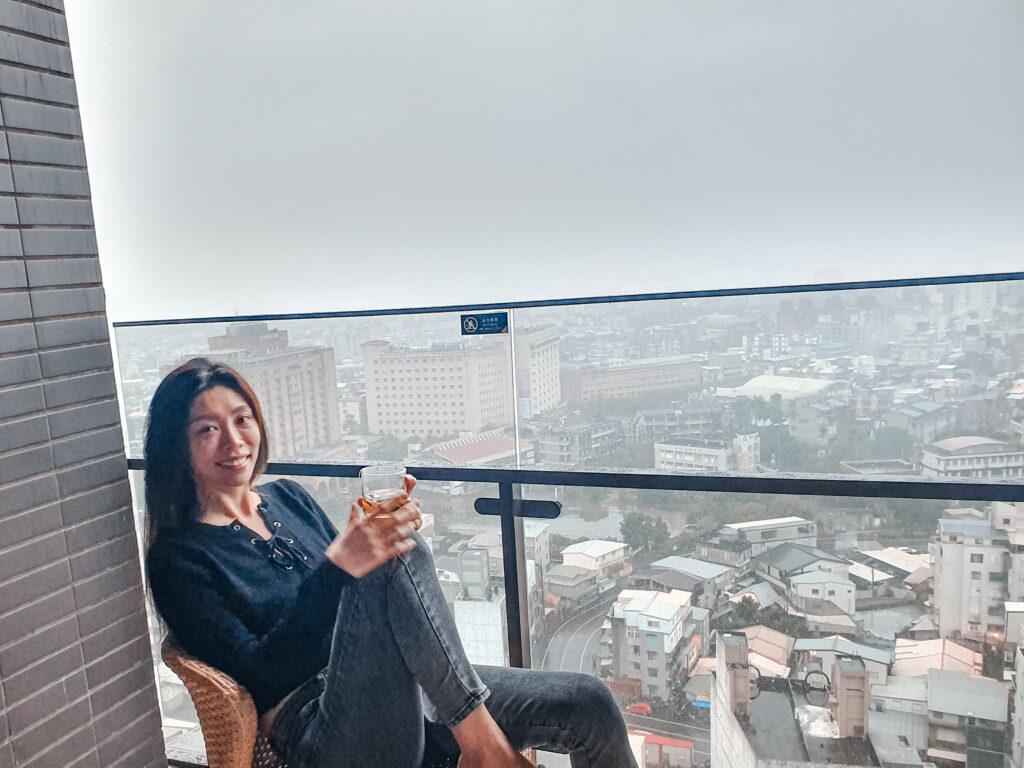 宜蘭 住宿推薦 村却國際溫泉酒店 房間內的陽台