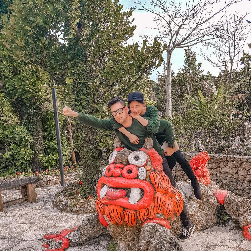 沖繩 百年古家 大家  阿古豬 戶外庭園 沖繩美食 百年古家 大家阿古豬 傳統琉球料理 百年古宅 人氣餐廳