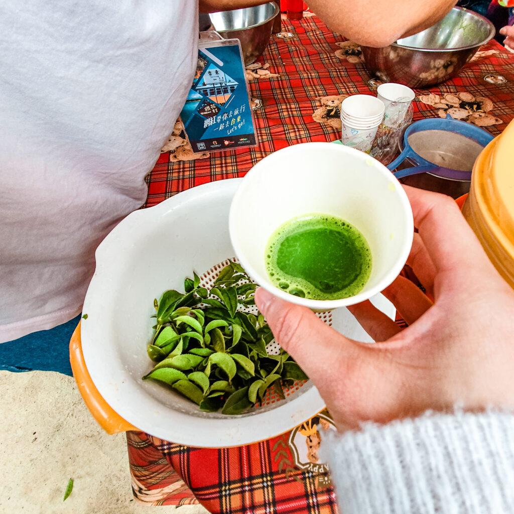 現打蜂蜜綠茶汁