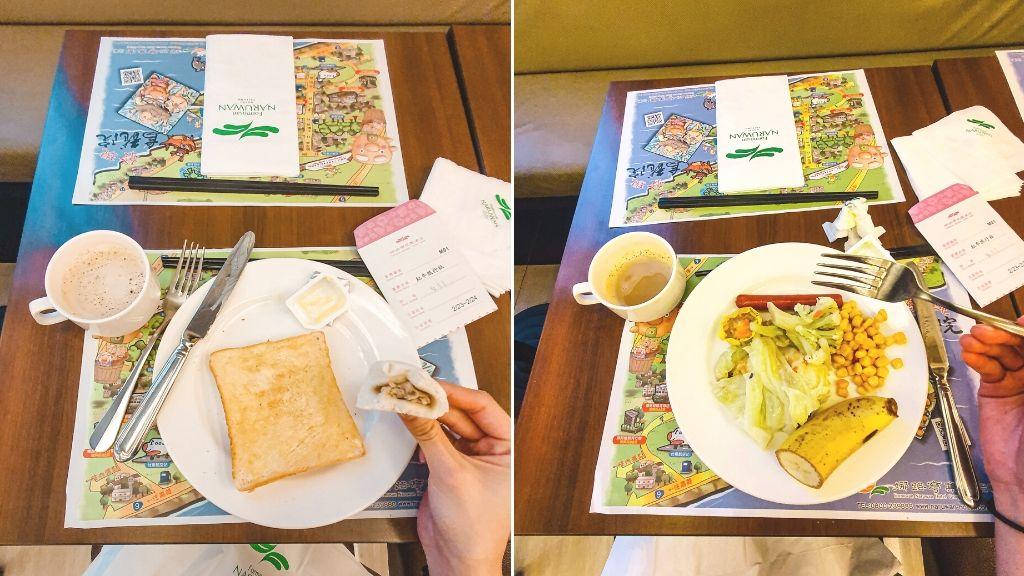 我的兩盤早餐選擇 娜路彎花園酒店 住宿早餐