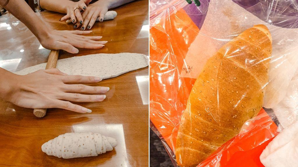 自己做的麵成包品還不錯 飯店體驗活動