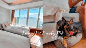 岩手旅店 | 俯瞰船帆石沙灘海景的墾丁寵物友善住宿推薦